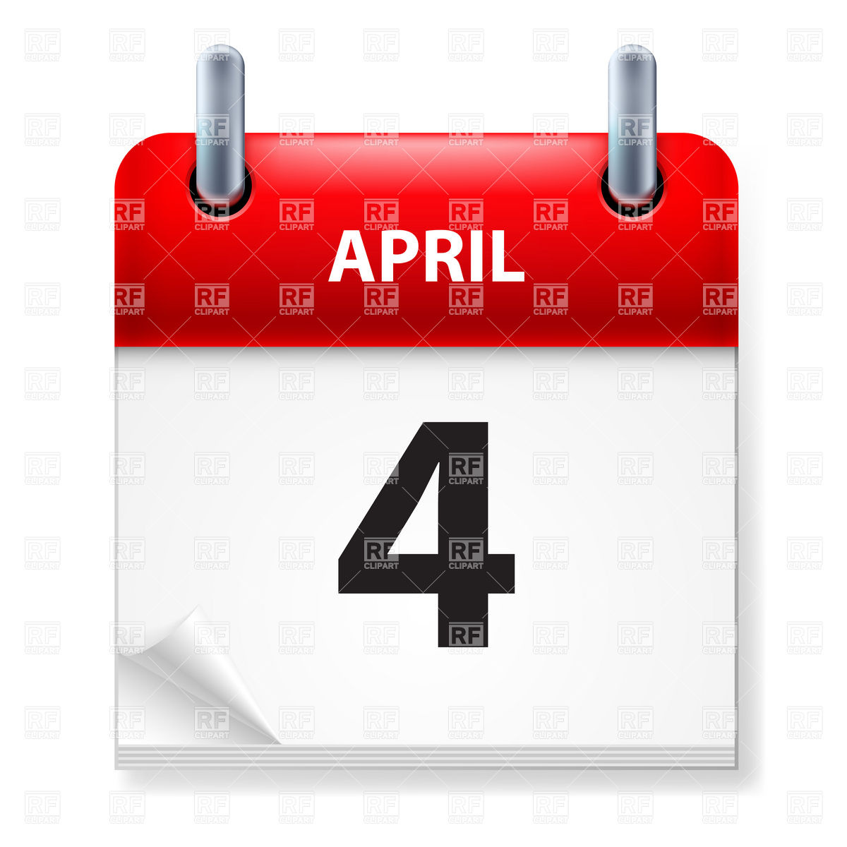 Calendar clipart april 4th. Th clipartfest icon of