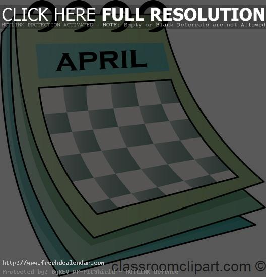 Calendar clipart april 4th banner free download Calendar Clipart | Clipart Panda - Free Clipart Images banner free download