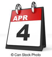 th illustrations and. Calendar clipart april 4th