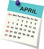 Clipartfest for. Calendar clipart april 4th