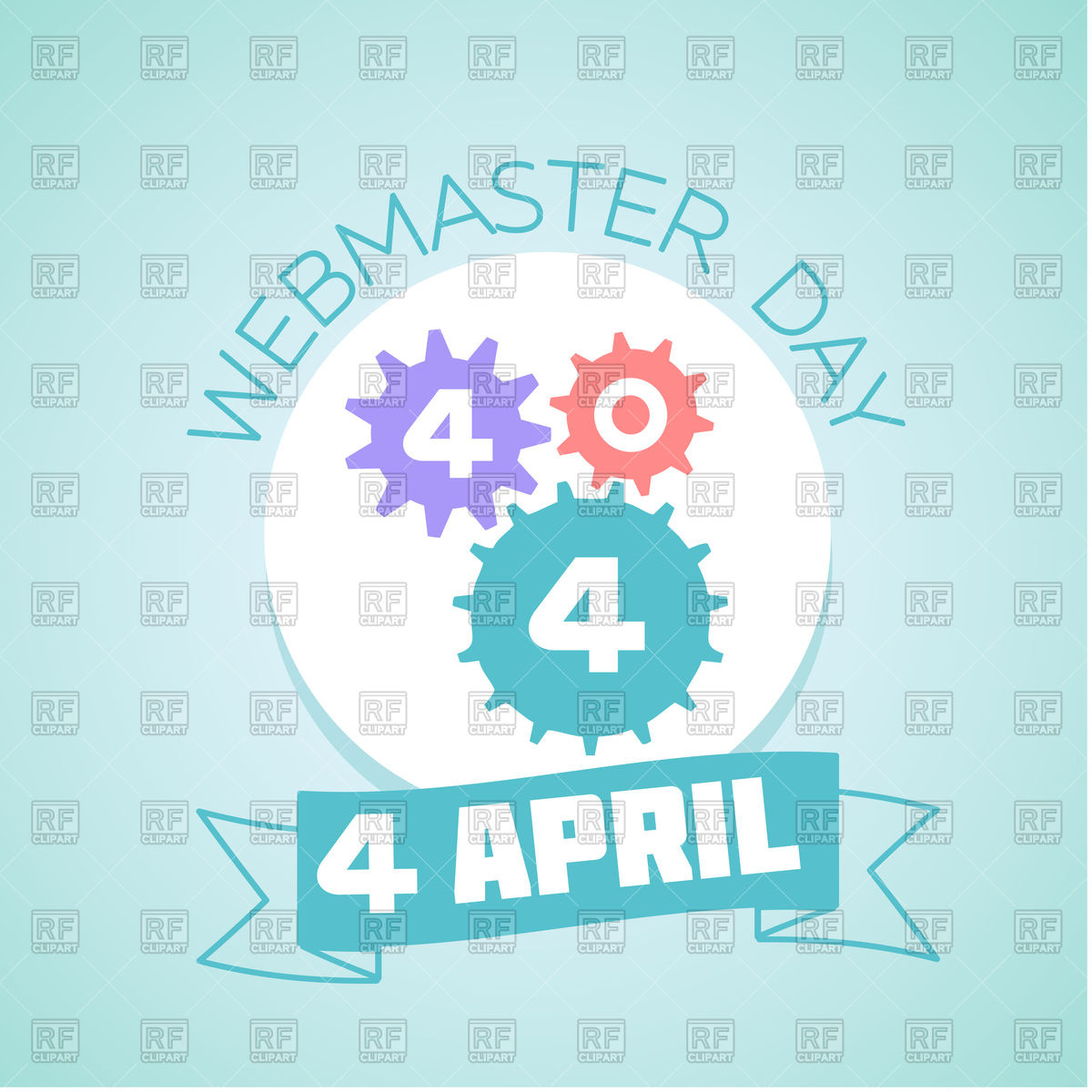 Calendar clipart april 4th png free download Calendar for each day on April 4 - Webmaster day Vector Image ... png free download