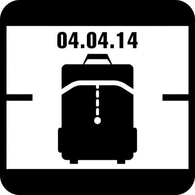 Calendar clipart april 4th black and white stock April 4 of 2014 calendar page with travel bag reminder symbol ... black and white stock