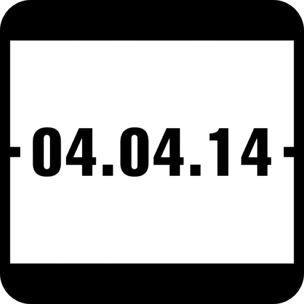 Of event page icons. Calendar clipart april 4th