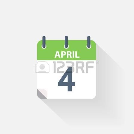 Th clipartfox . Calendar clipart april 4th