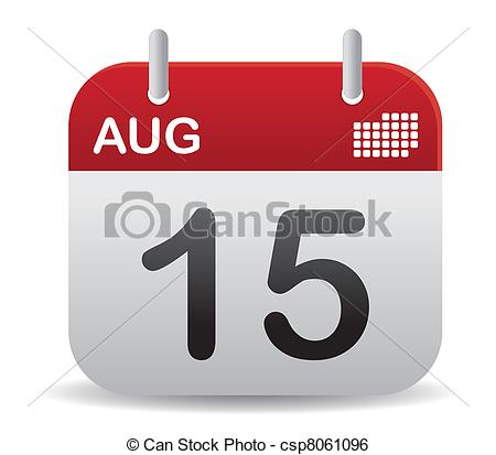 Calendar clipart august png transparent download Clip Art Vector of august calendar stand up in red csp8061096 ... png transparent download