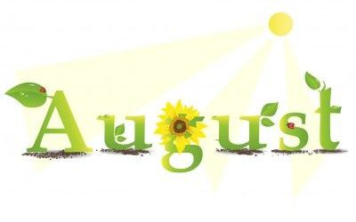 Observances and special days. Calendar clipart august