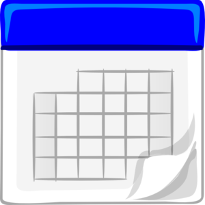 Calendar clipart blue clip art freeuse Blue Calendar Clip Art at Clker.com - vector clip art online ... clip art freeuse