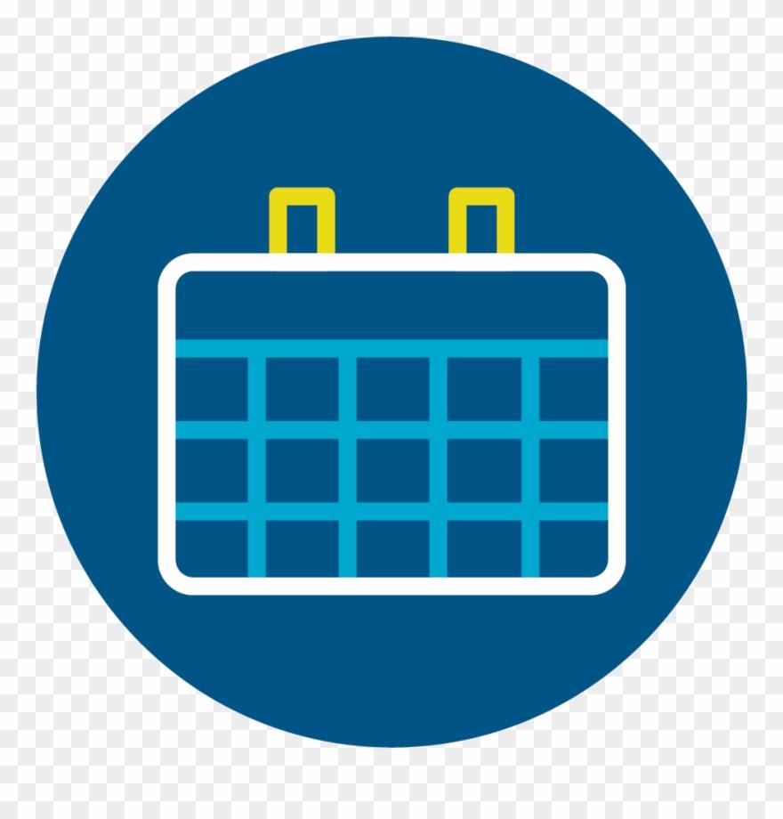 Calendar clipart blue picture freeuse stock Calendar - Calendar Icon Circle Png Blue Clipart (#1463708) - PinClipart picture freeuse stock