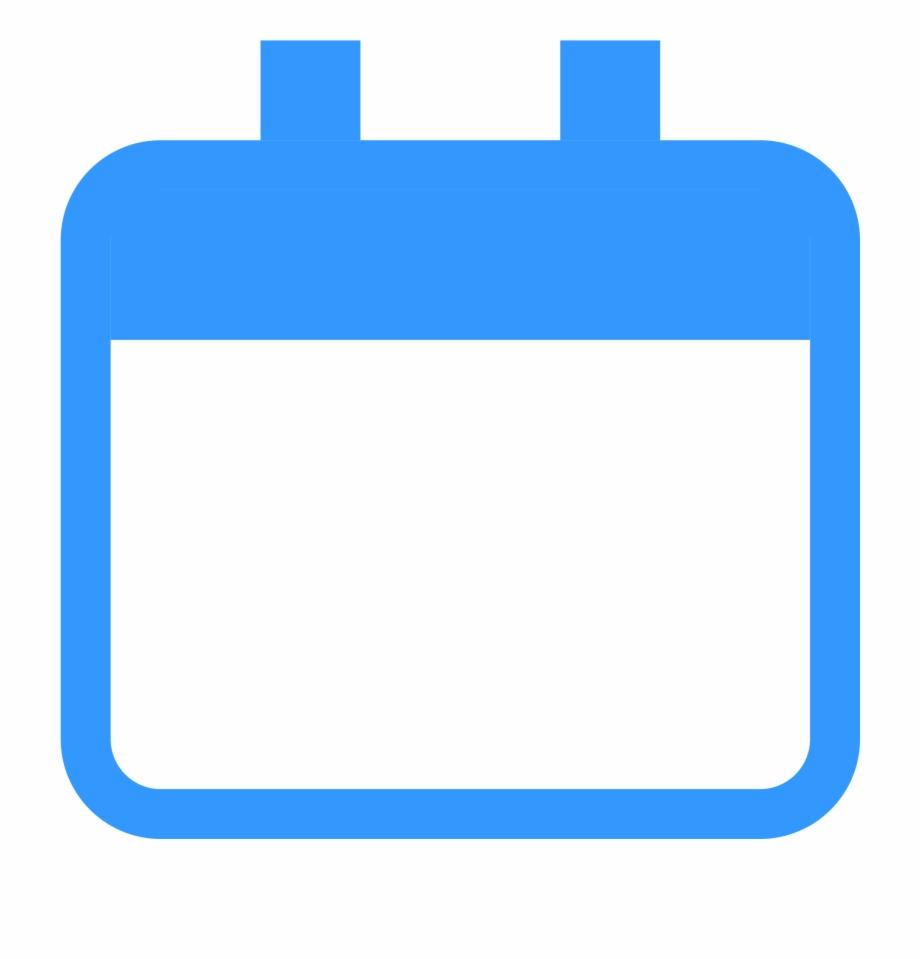 Calendar clipart blue image black and white stock Blank Calendar Icon Png - Blue Calendar Icon Png Free PNG Images ... image black and white stock