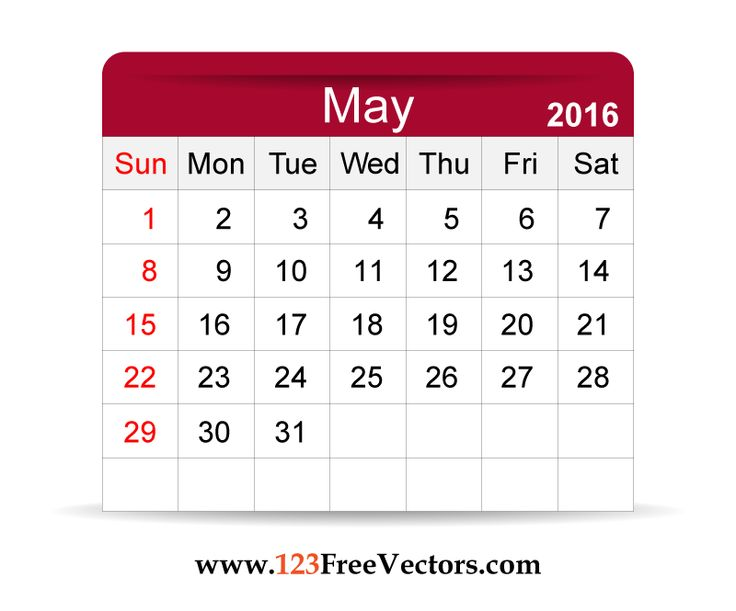 Calendar clipart bw may 2016 jpg freeuse library May 2016 calendar clipart - ClipartFox jpg freeuse library