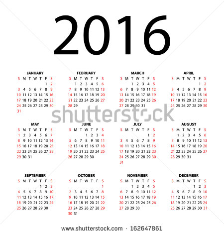 Calendar clipart bw may 2016 image black and white download Calendar Grid Stock Images, Royalty-Free Images & Vectors ... image black and white download