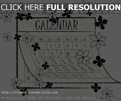 Calendar clipart bw may 2016 png library Calendar clipart bw may 2016 - ClipartNinja png library