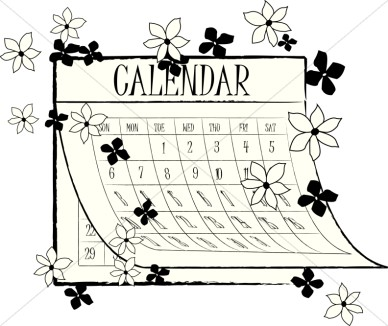 Calendar clipart bw may 2016 graphic black and white stock Calendar Clipart Black And White graphic black and white stock