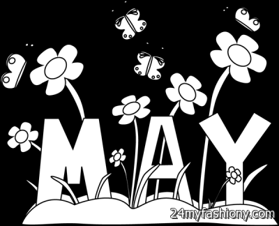 Calendar clipart bw may 2016 banner freeuse stock Calendar Clipart Black And White banner freeuse stock
