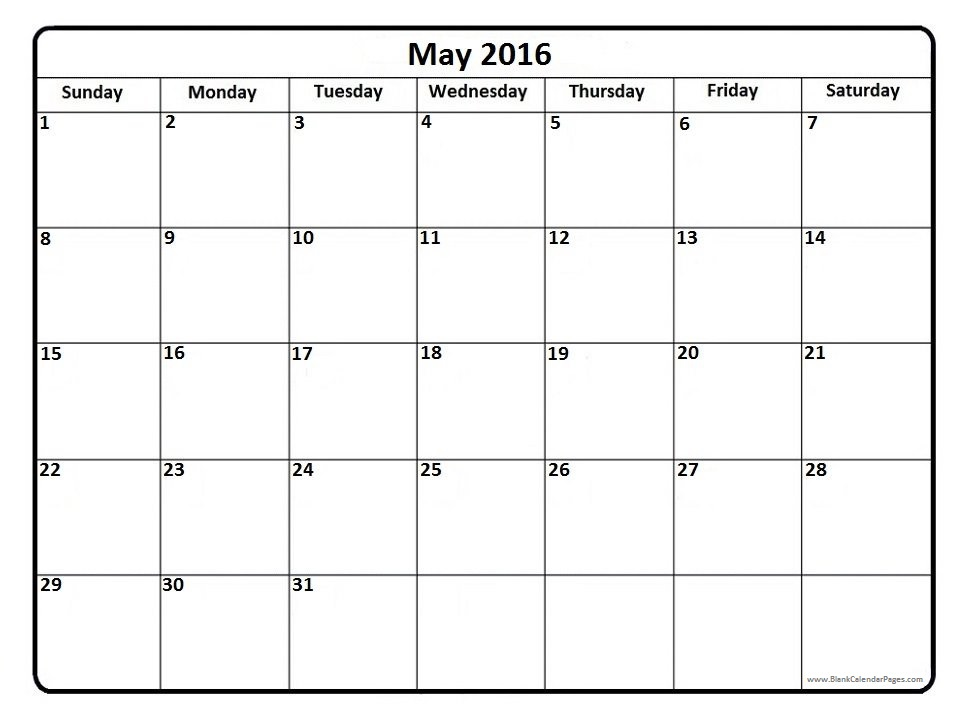 Calendar clipart bw may 2016 clip black and white stock May Calendar Clipart Black And White clip black and white stock