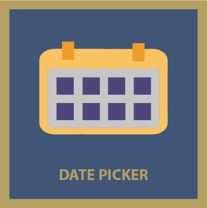 Calendar clipart datepicker picture black and white stock Date Picker picture black and white stock