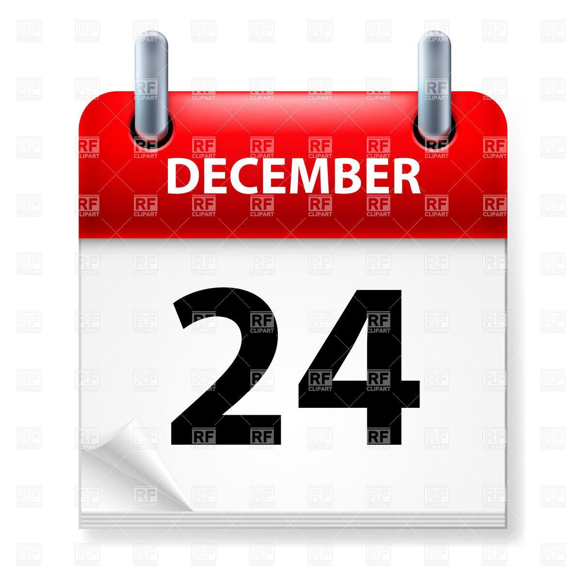 Calendar clipart december 24 vector black and white library Calendar clipart december 24 - ClipartFest vector black and white library