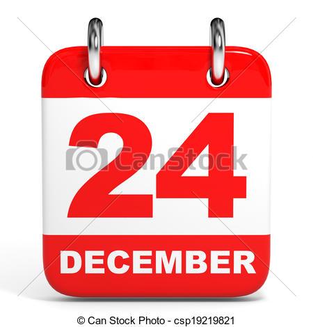 Calendar clipart december 24 clip free Clip Art of Calendar. 24 December. - Calendar on white background ... clip free