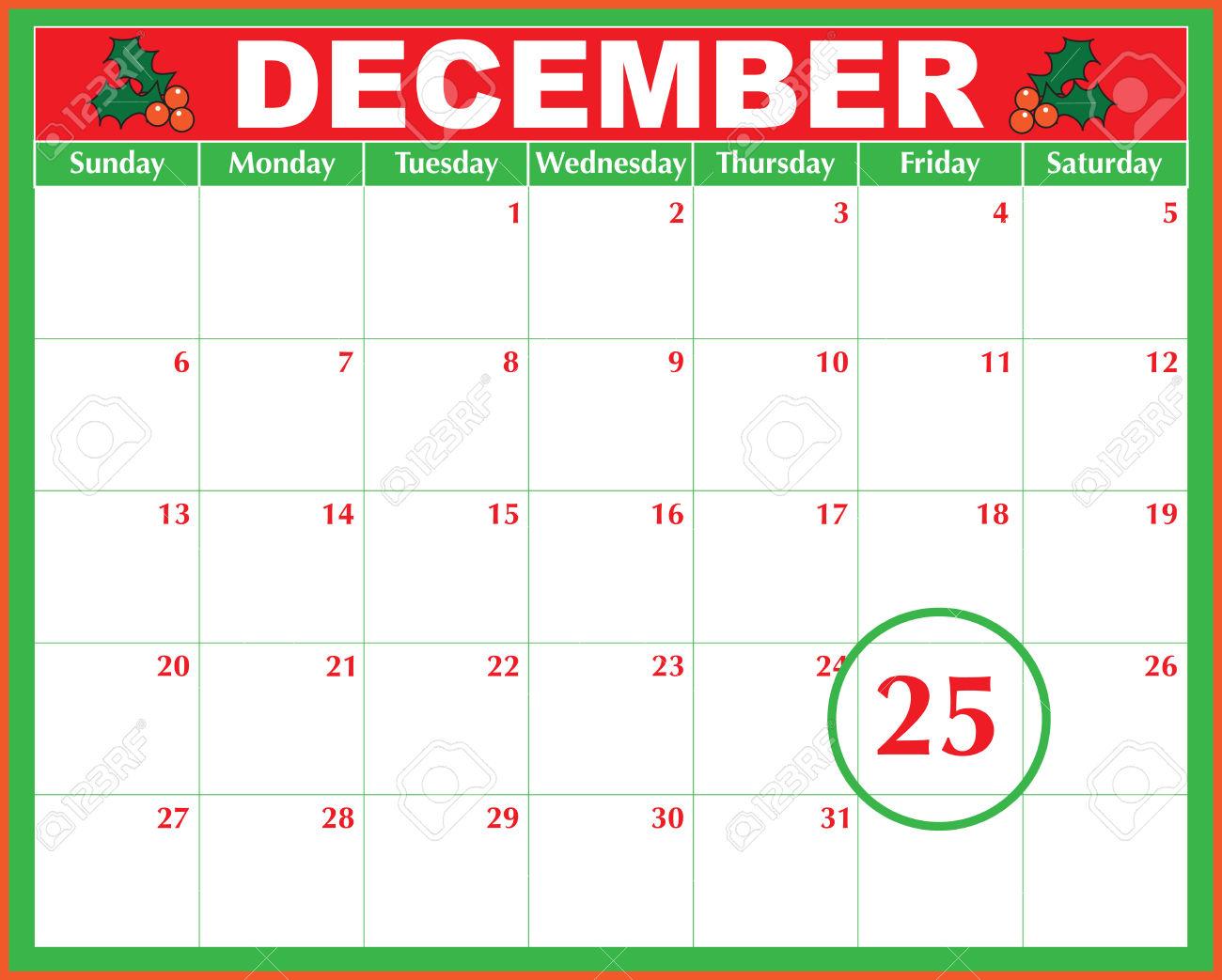 Calendar clipart december 24 vector stock Calendar clipart december 24 1971 - ClipartFest vector stock
