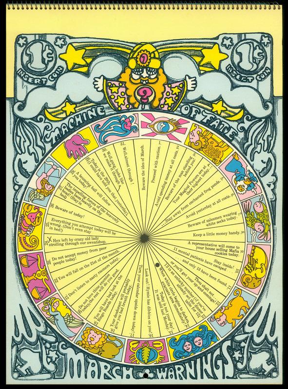 Calendar clipart december 24 1971 picture royalty free download 1971 Pop/Astrology Calendar illustration by Frederic Martin ... picture royalty free download