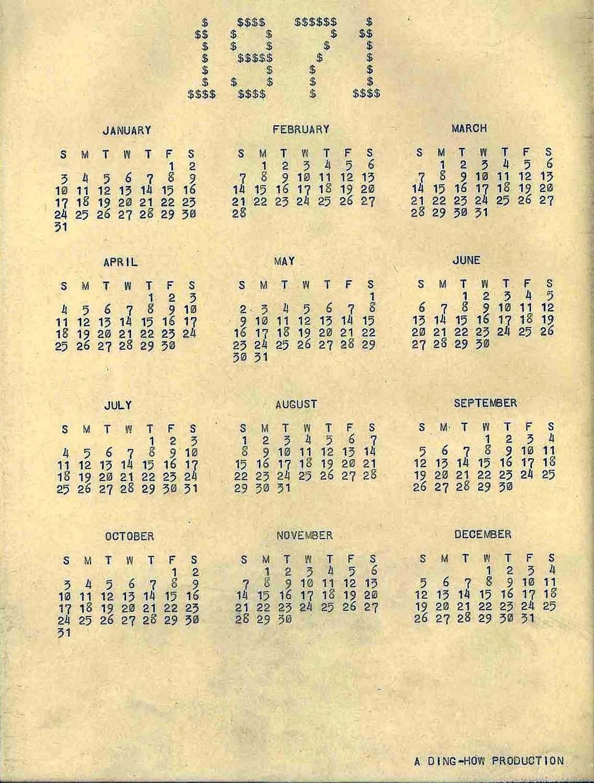 Calendar clipart december 24 1971 clip free stock Memorabilia and Artifacts clip free stock