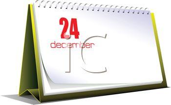 Calendar clipart december 24 png Desk Calendar on December 24 Christmas Eve - Royalty Free Clip Art ... png