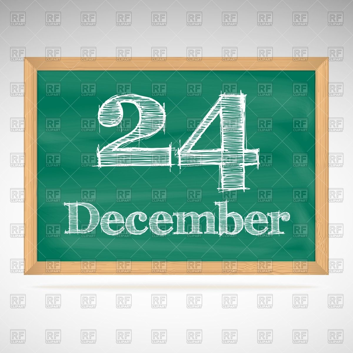 Calendar clipart december 24 clipart black and white library School blackboard calendar with inscription in chalk December 24 ... clipart black and white library