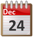 Calendar clipart december 24 image black and white library calendar December 24 - /time/calendar/flip_calendar/12_December ... image black and white library
