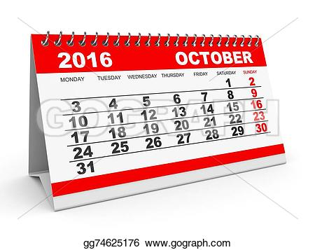 Calendar clipart for october picture royalty free stock October 2016 calendar clip art - calendar12 picture royalty free stock