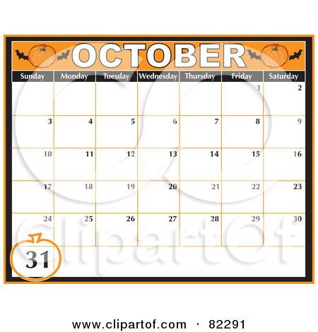 Calendar clipart for october clip art Royalty-Free (RF) October Calendar Clipart, Illustrations, Vector ... clip art