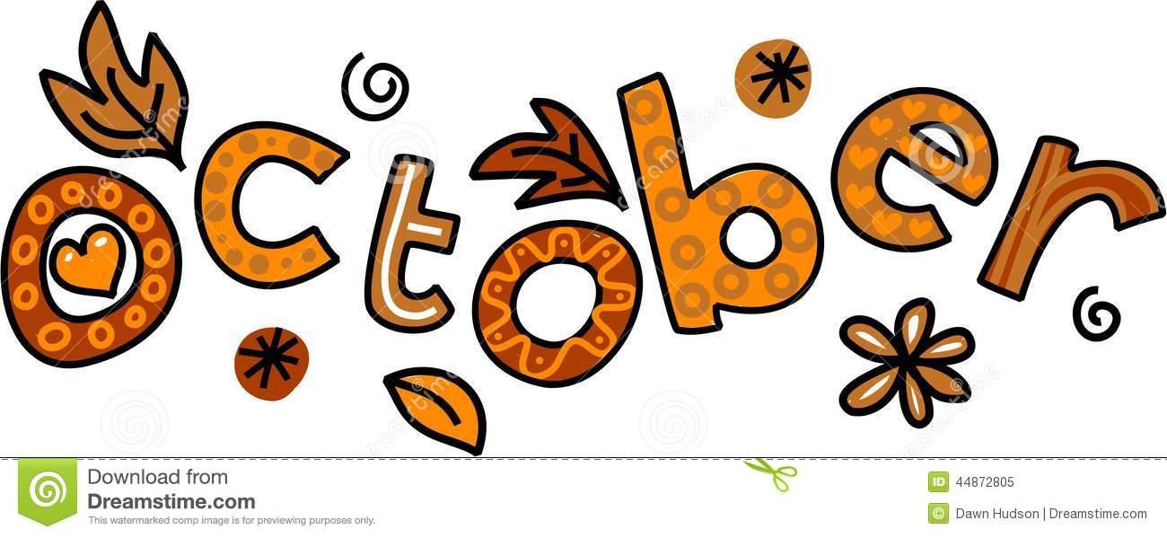 Calendar clipart for october banner free stock Month Of October Clipart - Clipart Kid banner free stock