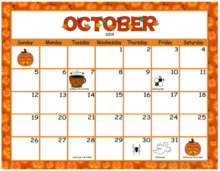 Calendar clipart for october clip transparent stock October Calendar Clipart - Clipart Kid clip transparent stock