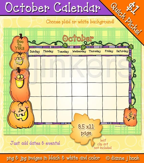 Calendar clipart for october banner freeuse download October Calendar Clipart Download #ZonILo - Clipart Kid banner freeuse download