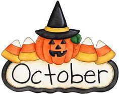 Calendar clipart for october vector library stock Month Of October Clipart - Clipart Kid vector library stock