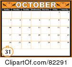 Calendar clipart for october svg freeuse Royalty-Free (RF) October Calendar Clipart, Illustrations, Vector ... svg freeuse