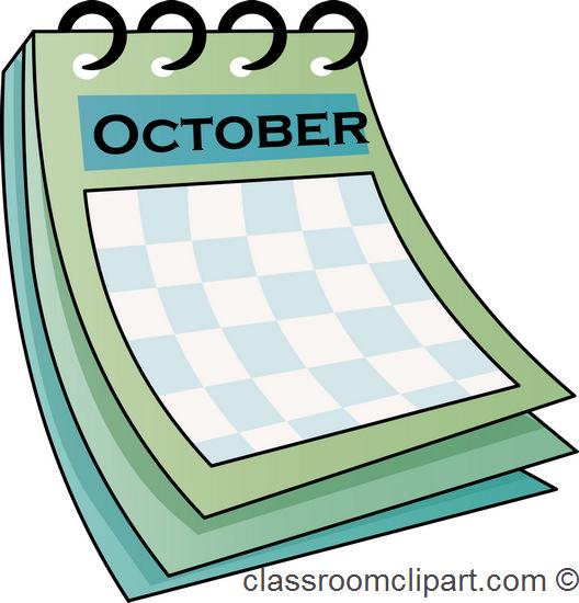 Calendar clipart for october jpg transparent stock Clipart for october calendar - ClipartFest jpg transparent stock