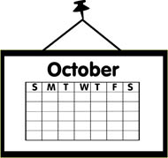 Calendar clipart for october clipart free stock October calendar pictures clipart - ClipartFest clipart free stock