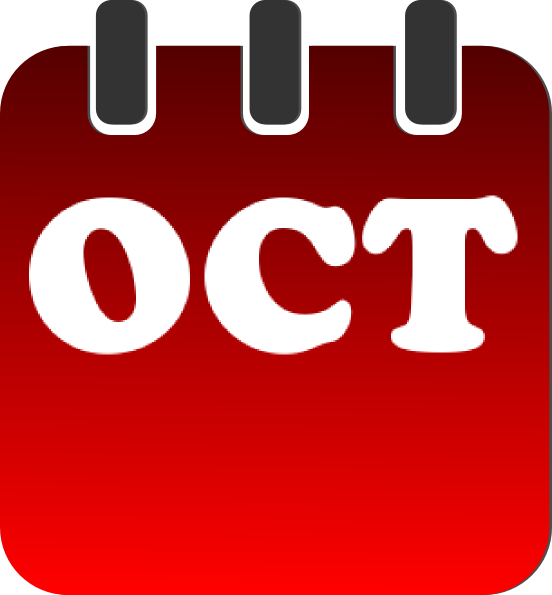 Calendar clipart for october image royalty free October Calendar Clip Art at Clker.com - vector clip art online ... image royalty free