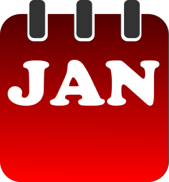 Calendar clipart january image transparent January Calendar Clip Art at Clker.com - vector clip art online ... image transparent