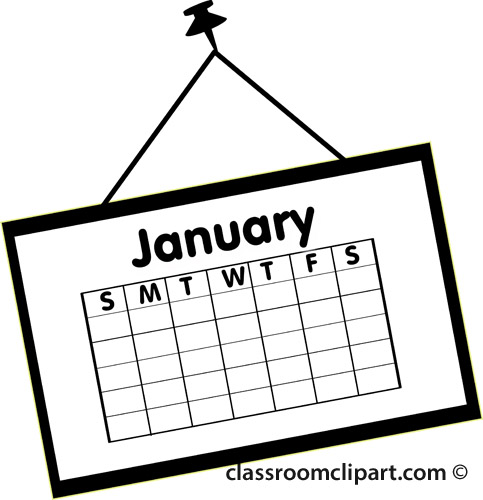 Calendar clipart january banner library download January Calendar Clipart - Clipart Kid banner library download