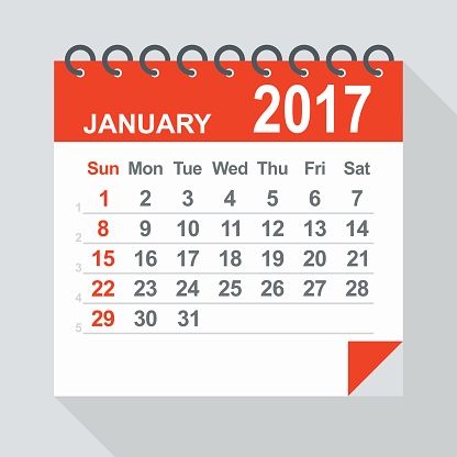 Calendar clipart january picture royalty free stock Clipart january 2017 calendars - ClipartFest picture royalty free stock