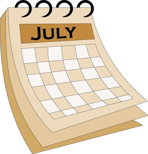 Calendar clipart july vector stock July Calendar Clipart - Clipart Kid vector stock