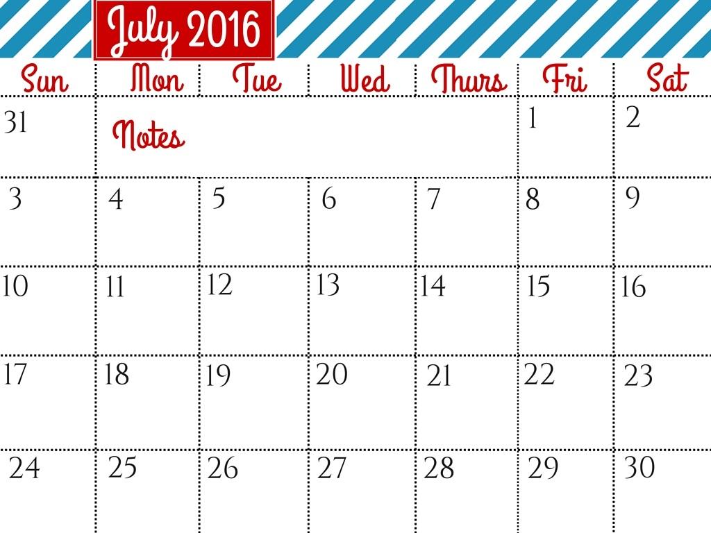 Calendar clipart july clip art transparent download July 2016 calendar clipart - ClipartFest clip art transparent download
