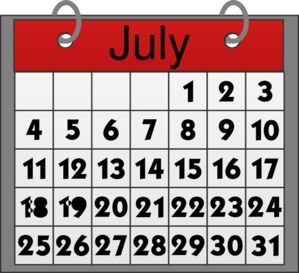 Calendar clipart july png freeuse library July Calendar Clipart - Clipart Kid png freeuse library