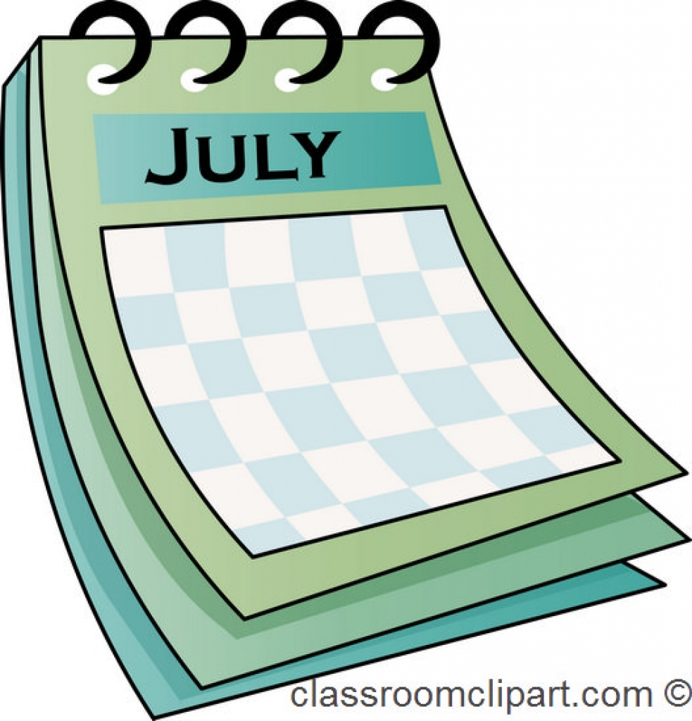 Calendar clipart july banner free July free calendar clipart - ClipartFest banner free