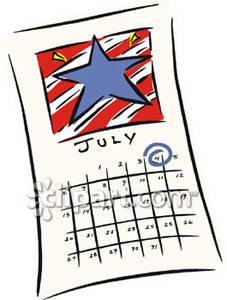 Calendar clipart july banner library stock July Calendar Clipart - Clipart Kid banner library stock