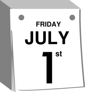 Calendar clipart july png black and white library July 1 St Calendar Clip Art at Clker.com - vector clip art online ... png black and white library