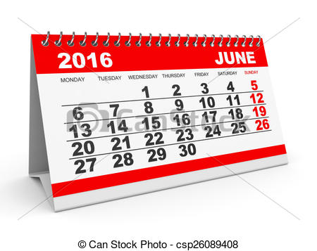 Calendar clipart june 11 2016 picture download Stock Illustration of Calendar June 2016. - Calendar June 2016 on ... picture download
