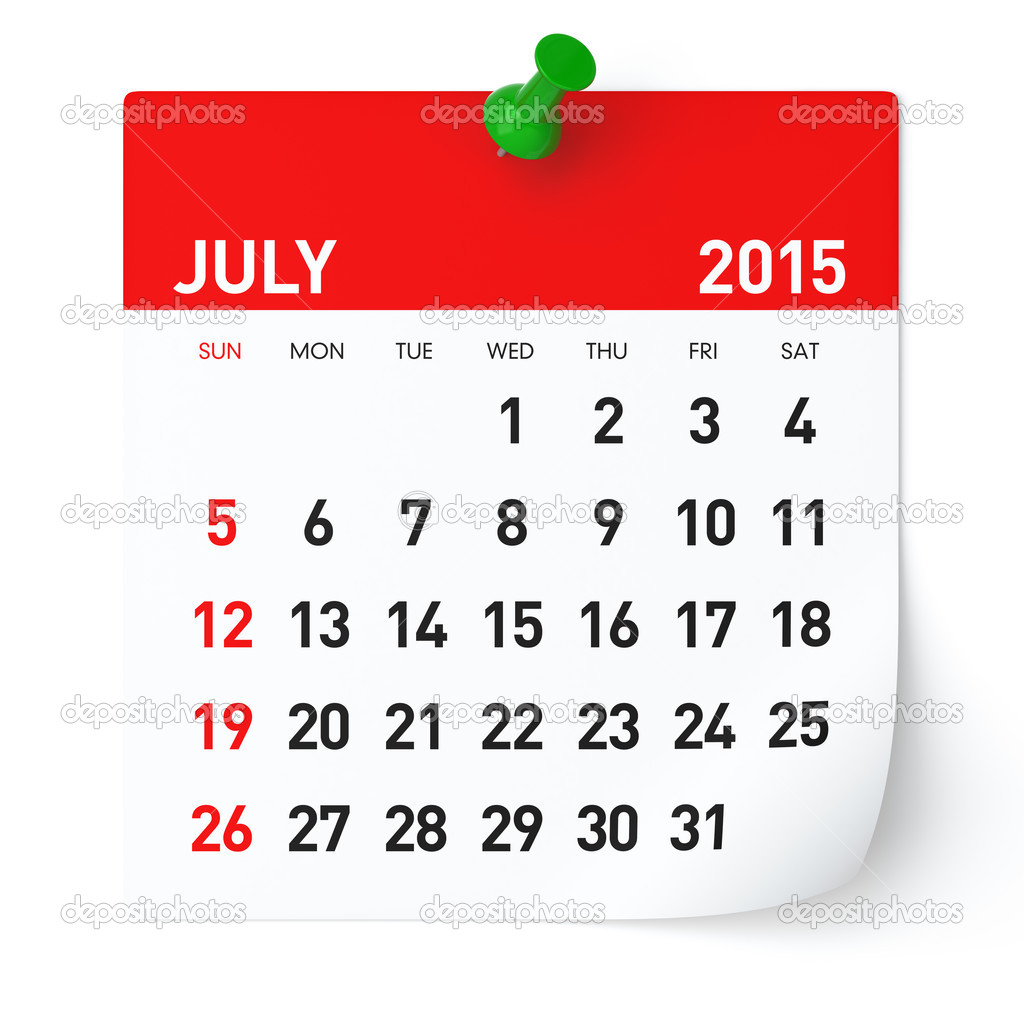 Calendar clipart june 11 2016 clip transparent stock Calendar July 2015 Clipart - Clipart Kid clip transparent stock