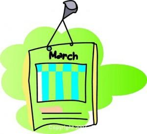Calendar clipart march vector library library March Clip Art For Calendars | Clipart Panda - Free Clipart Images vector library library